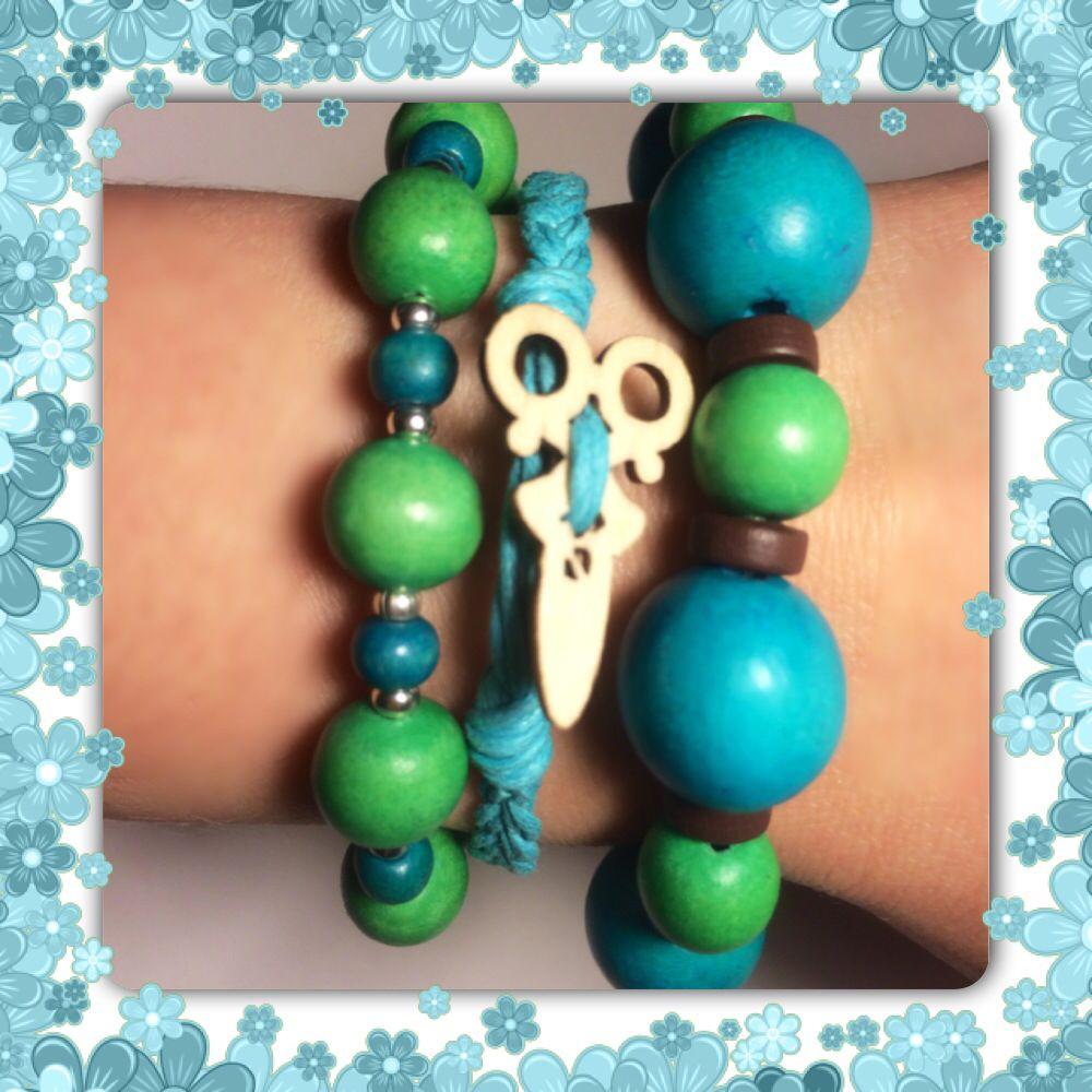 Wood beads 12