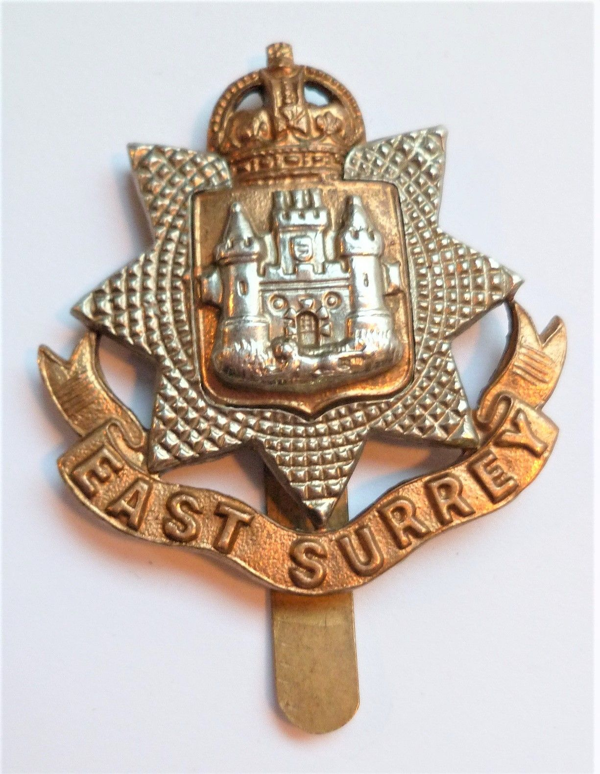 East Surrey Regiment Cap Badge British Army British
