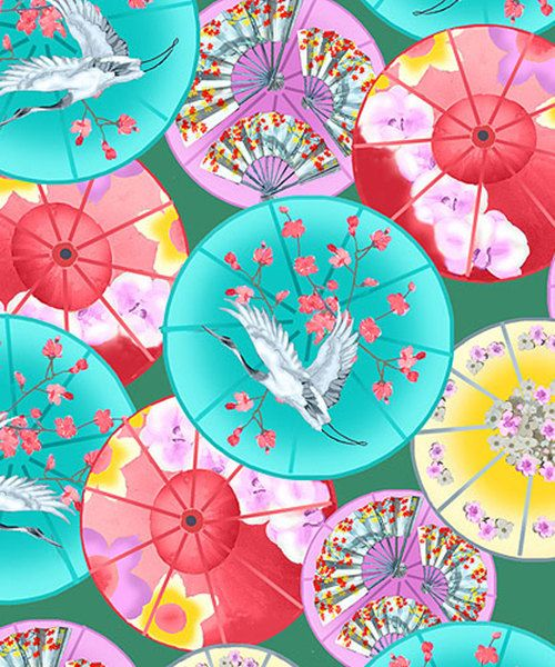 Decorative Parasols: Michiko Collection Asian by AsianFabrics