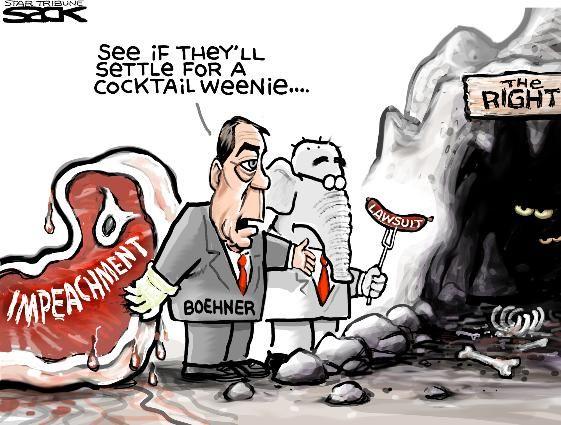 Sack cartoon: An alternative to impeachment | Star Tribune