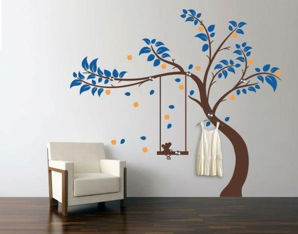 Baum Wandtattoo Mit Interessantem Design