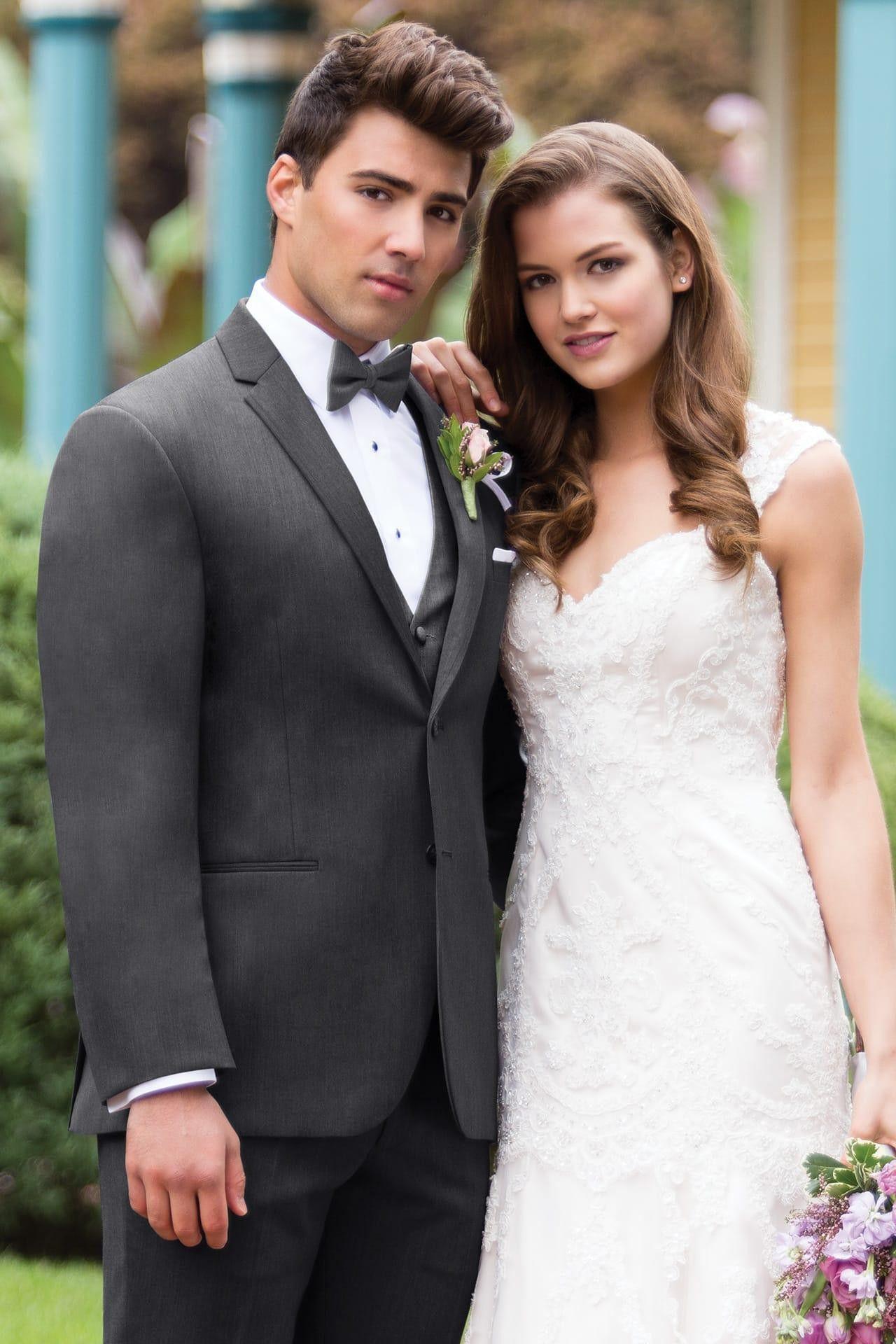 Steel grey sterling slim fit wedding suit michael kors style