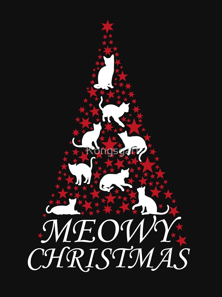 5d35c7176 Cute Meowy Christmas tree cat | Relaxed Fit T-Shirt in 2019 | Meowy ...