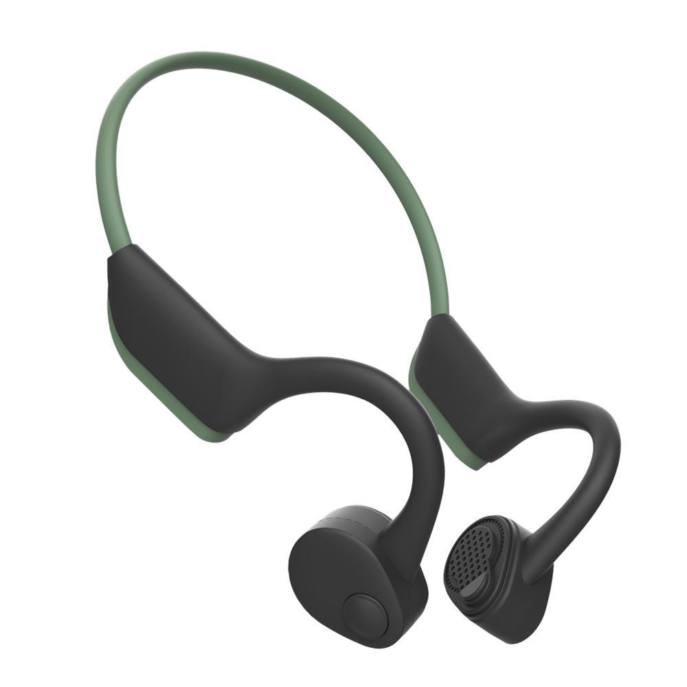 Bluetooth 5 0 S Wear J20 Bone Conduction Wireless Earphone Quick Charging Ip56 Waterproof Sport Stereo Headset With Mic Wireless Earphones Headphones Sport Earphones