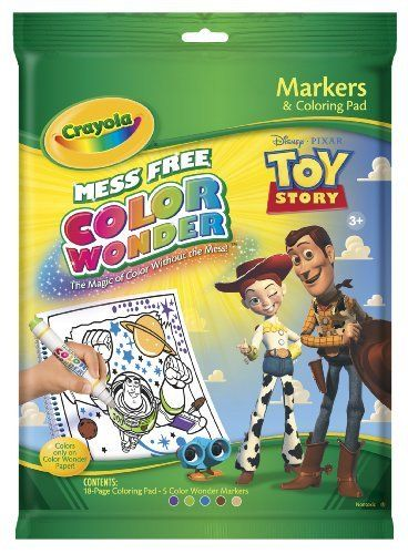 Crayola Color Wonder Toy Story Coloring Book And Markers By