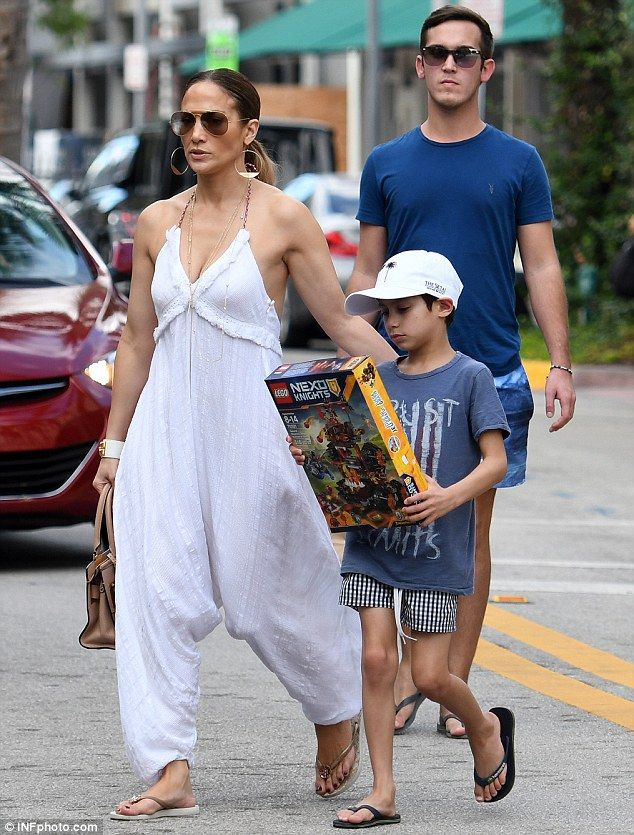 e3a540f7cc9 Jennifer Lopez is a wonder in white jumpsuit while bonding with son ...