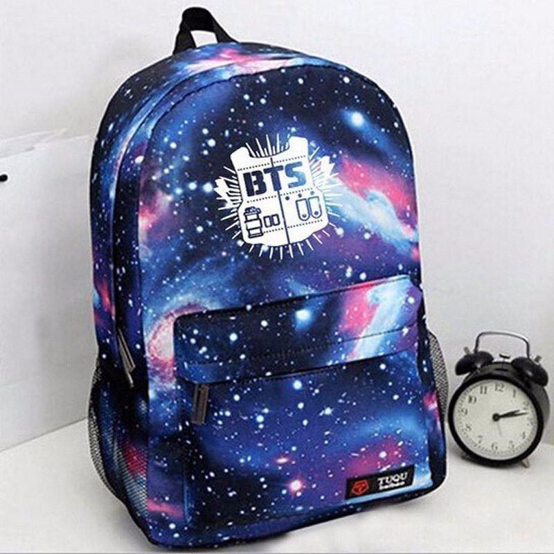 2016 Brand Fashion Laptop Backpack Printing BTS School Bags For Teenagers  girls Canvas Men Outdoor Travel Rucksack Mochila Li152 23ae09ab4ad73