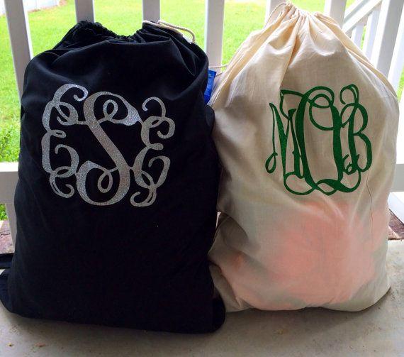 Monogram Laundry Bags By Glitterdazzleshine On Etsy 16 99