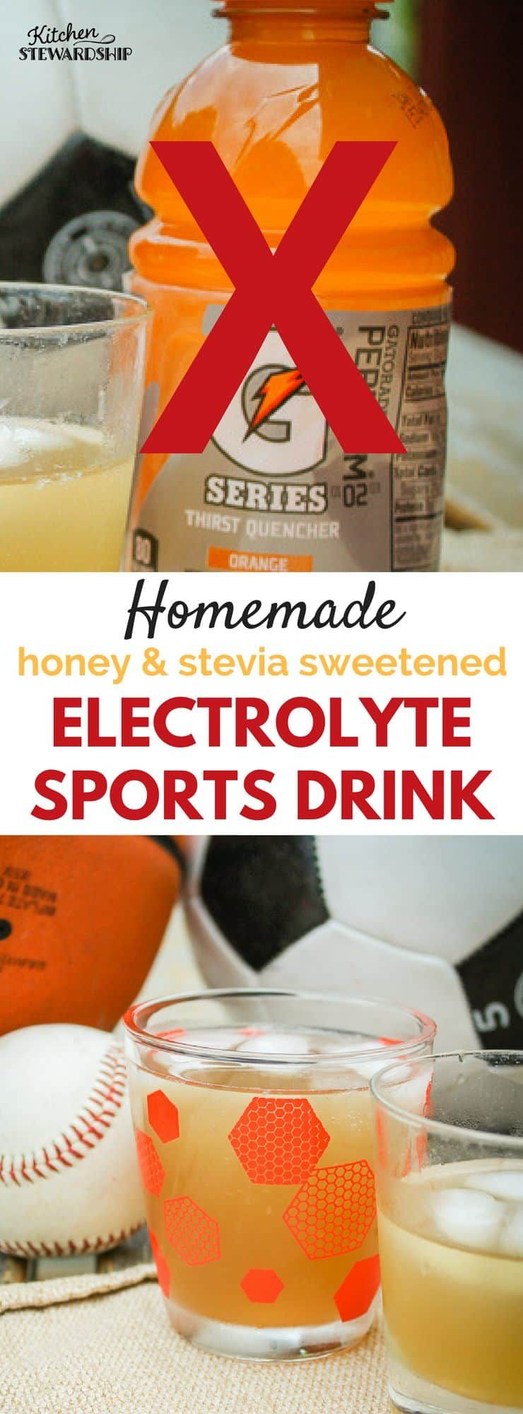 Homemade Electrolyte Sports Drink (Honey & Stevia