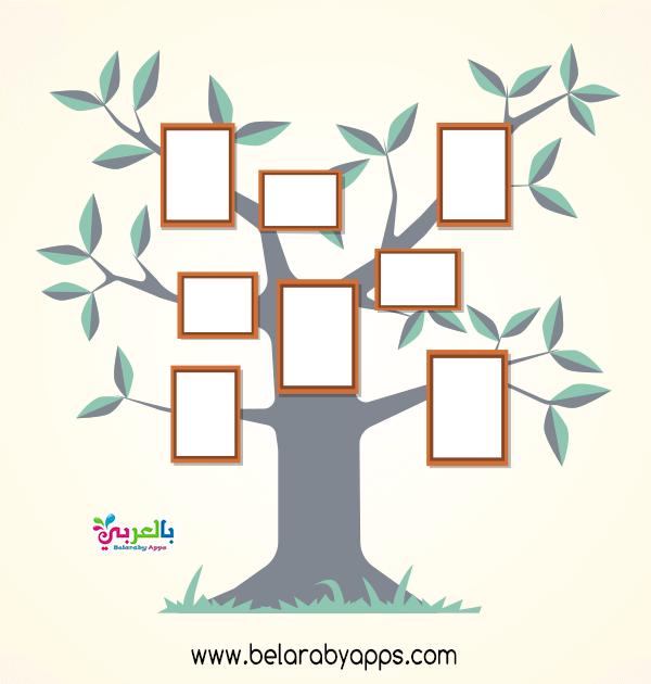 نماذج شجرة العائلة للاطفال بالصور عائلتي أسرتي بالعربي نتعلم In 2021