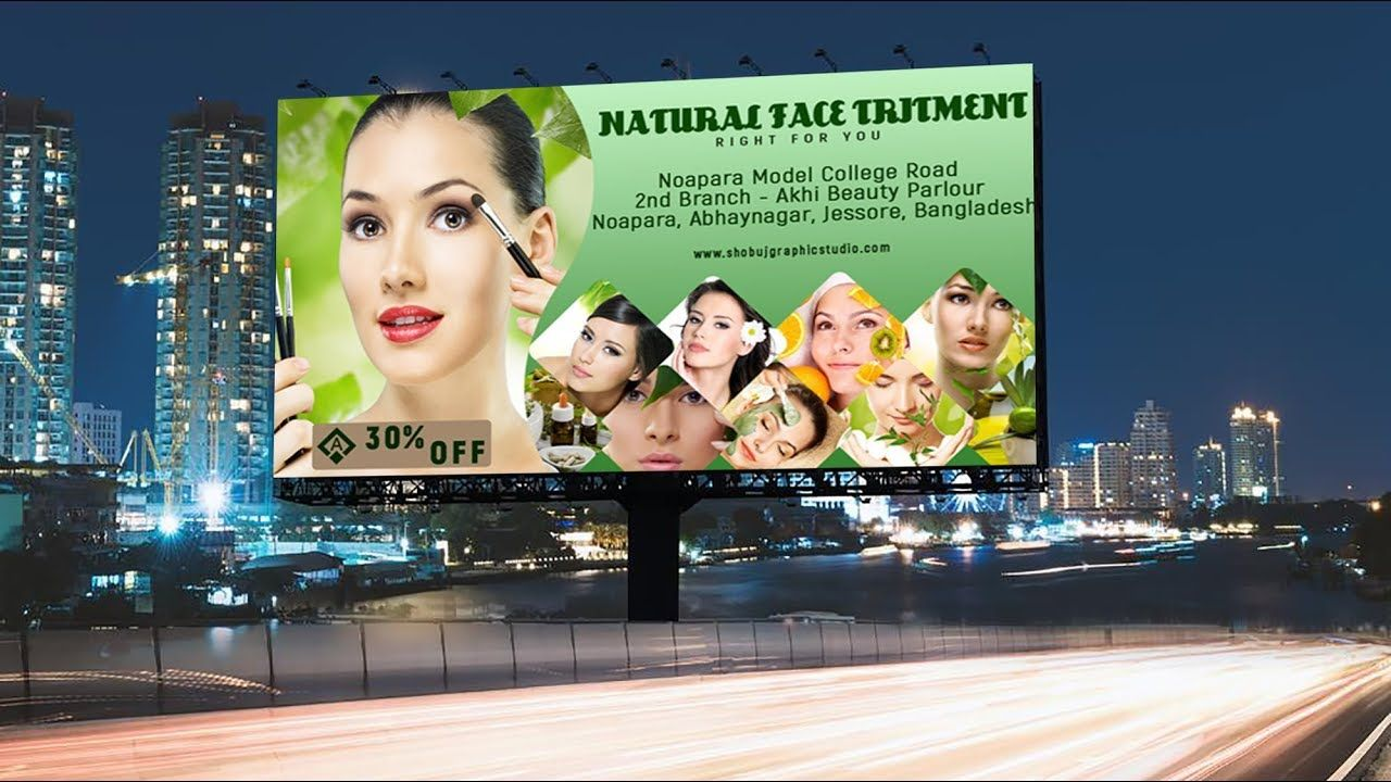 How To Design A Natural Beauty Parlour Banner In Photoshop Tutorial Beauty Parlor Photoshop Tutorial Photoshop