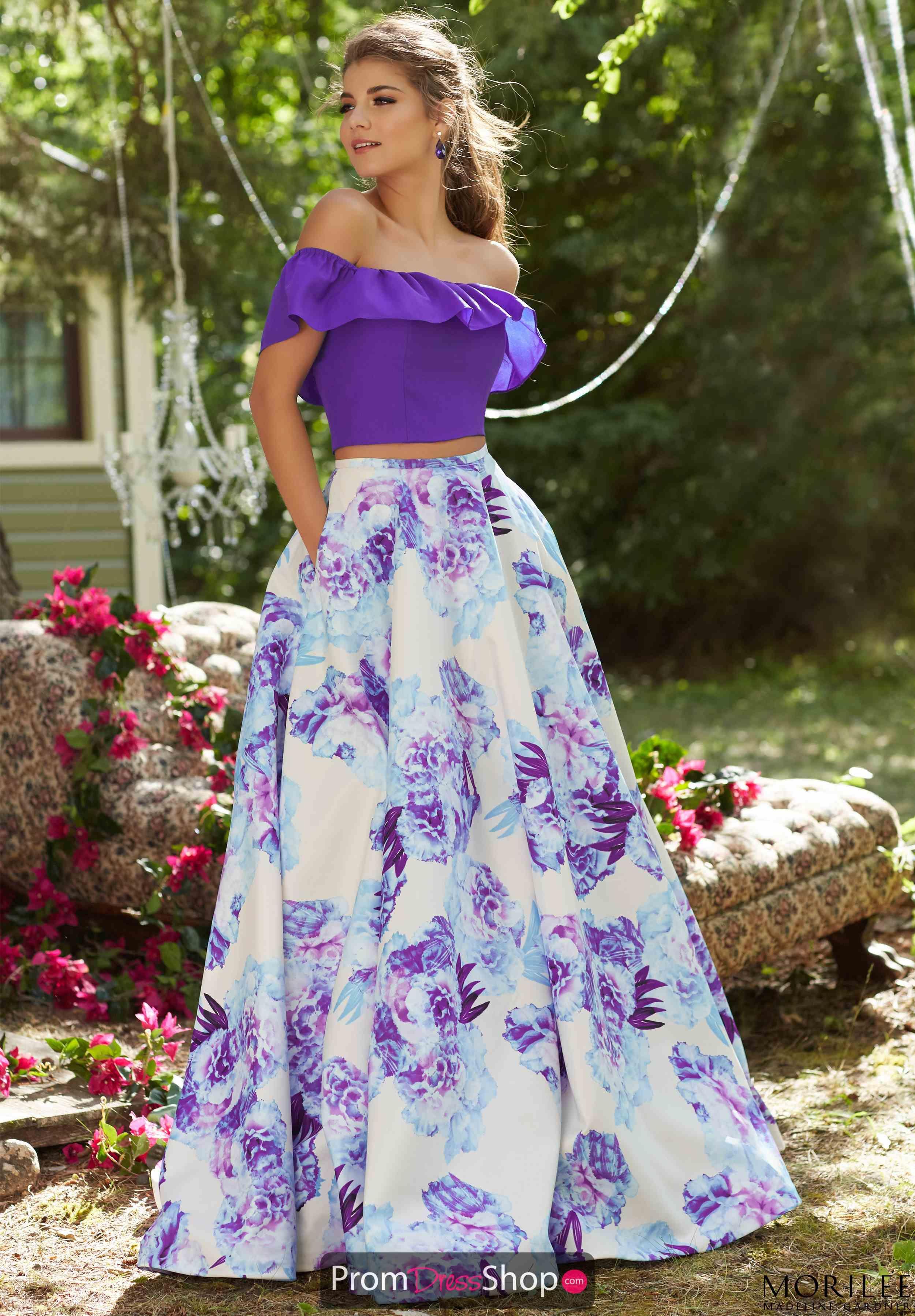 Morilee Dress 99045 Promdressshop Com Floral Prom Dresses Prom Dresses Two Piece Piece Prom Dress