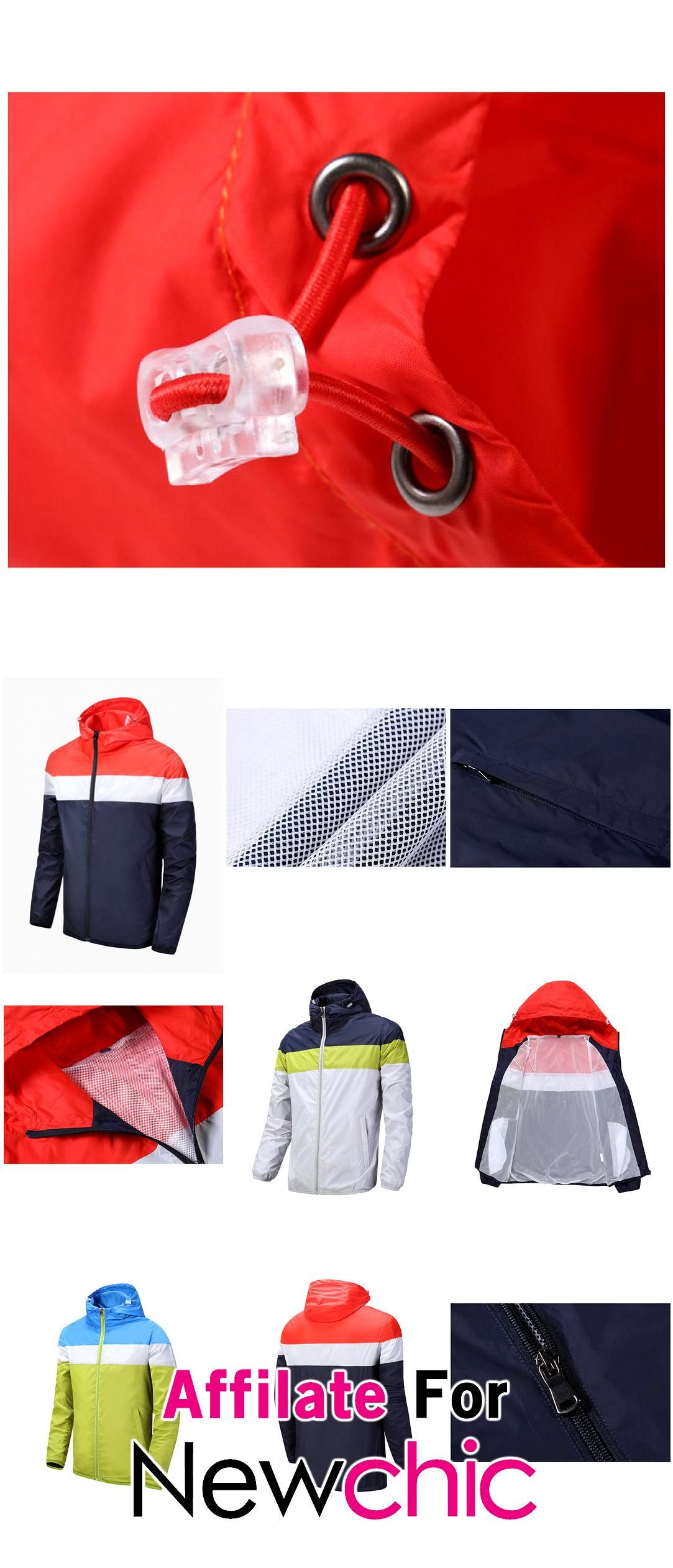Plus Size Spring Stitching Mixed Colors Breathable Sport Hooded Jacket For Men USD 2021 Plus Size Spring Stitching Mixed Colors Breathable Sport Hooded Jacket For Men USD...