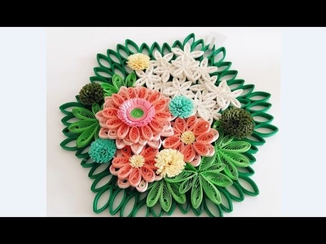 Paper Quilling Flower For Wall Hanging Decoration 20 DIY DecorationPaper Art