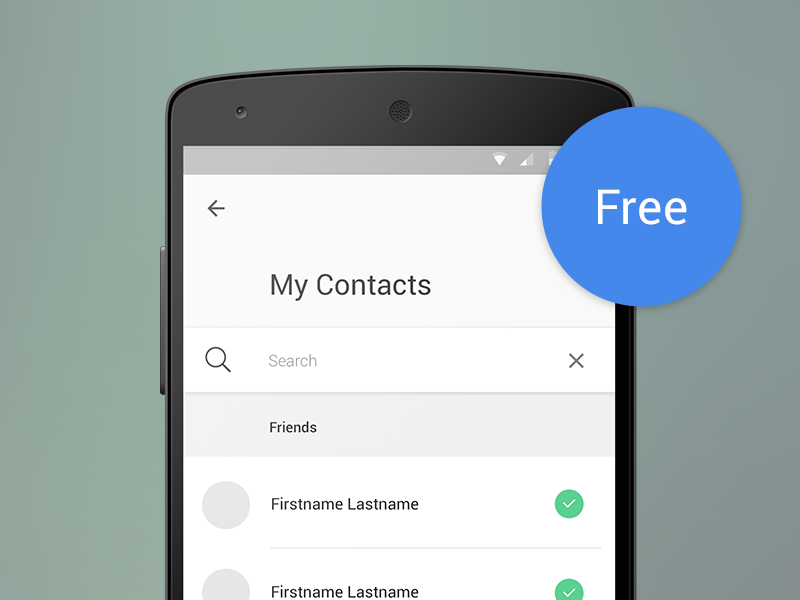 Free Psd Material Design  Contact List With Search  Material