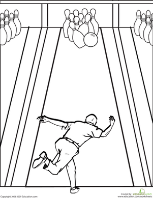 Bowling Coloring Pages Bowling Art Lessons Middle School Bowling Pictures