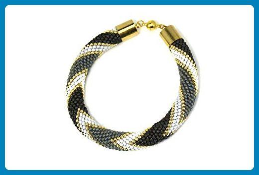 Bead crochet bracelet • Crochet bracelet • Fashion jewelry • Sead bead bracelet • Beaded bangle • Beadwork bracelet • Bead crochet rope - Wedding bracelets (*Amazon Partner-Link)