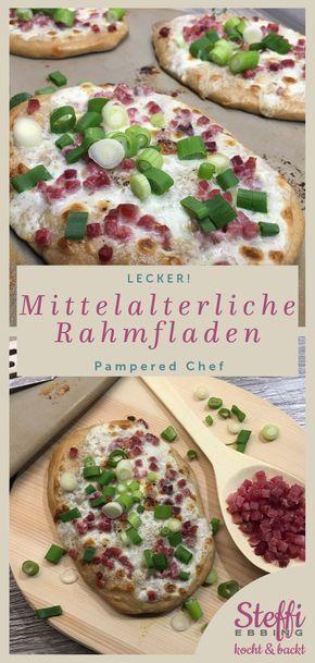ᐅ Rezept Rahmfladen  Zauberstein  Pampered Chef  – olive