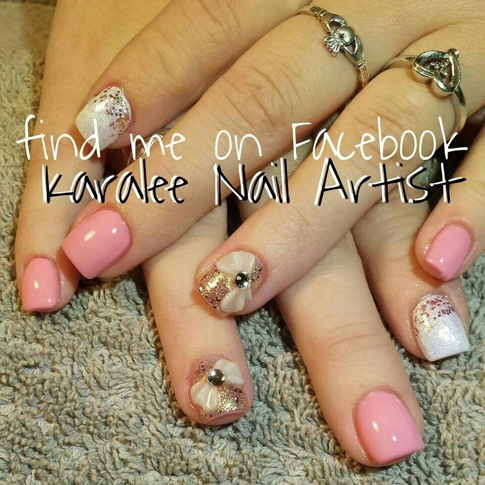 Nail Art 3d Bows By Karalee Nail Artist Karaleenails Pinterest