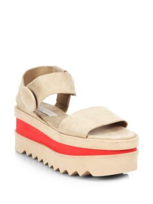 Stella Mccartney Faux Suede Platform Sandals | Shoes and Footwear