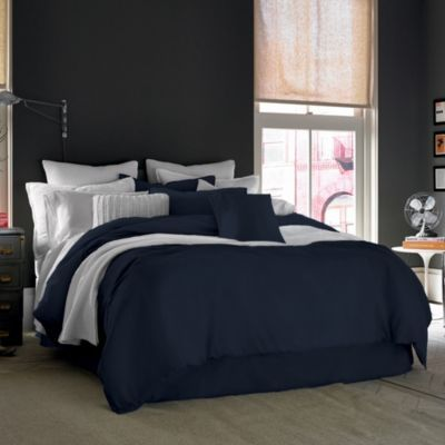 Kenneth Cole Reaction Home Mineral Duvet Cover In Indigo