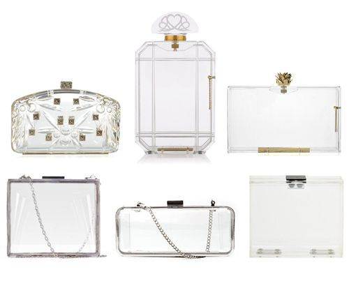 Style Thru The Ages: Perspex Celluloid Lucite Acrylic Clear Clutch Bags