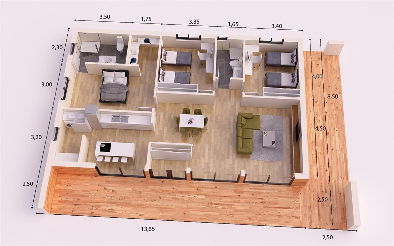 Venecia donacasa 175m2 casas de tejado plano donacasa for Planos de casas sencillas