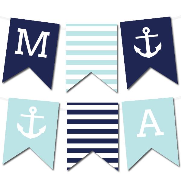 Free Printable Nautical Banner #wedding #printable #freeprintable ...