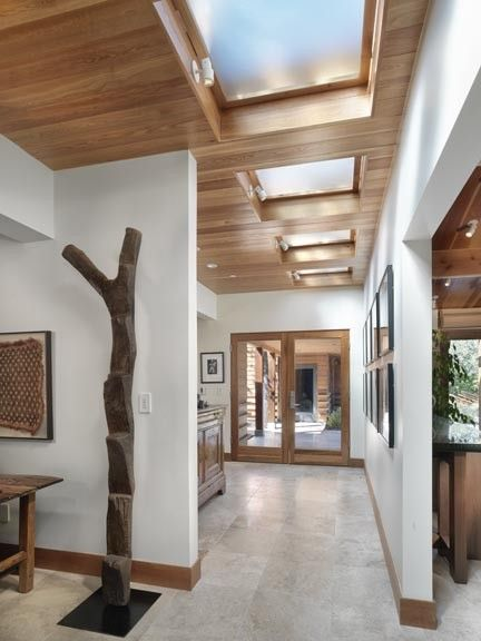 wooden slat ceiling with white walls and wooden trim inspiration rh pinterest com