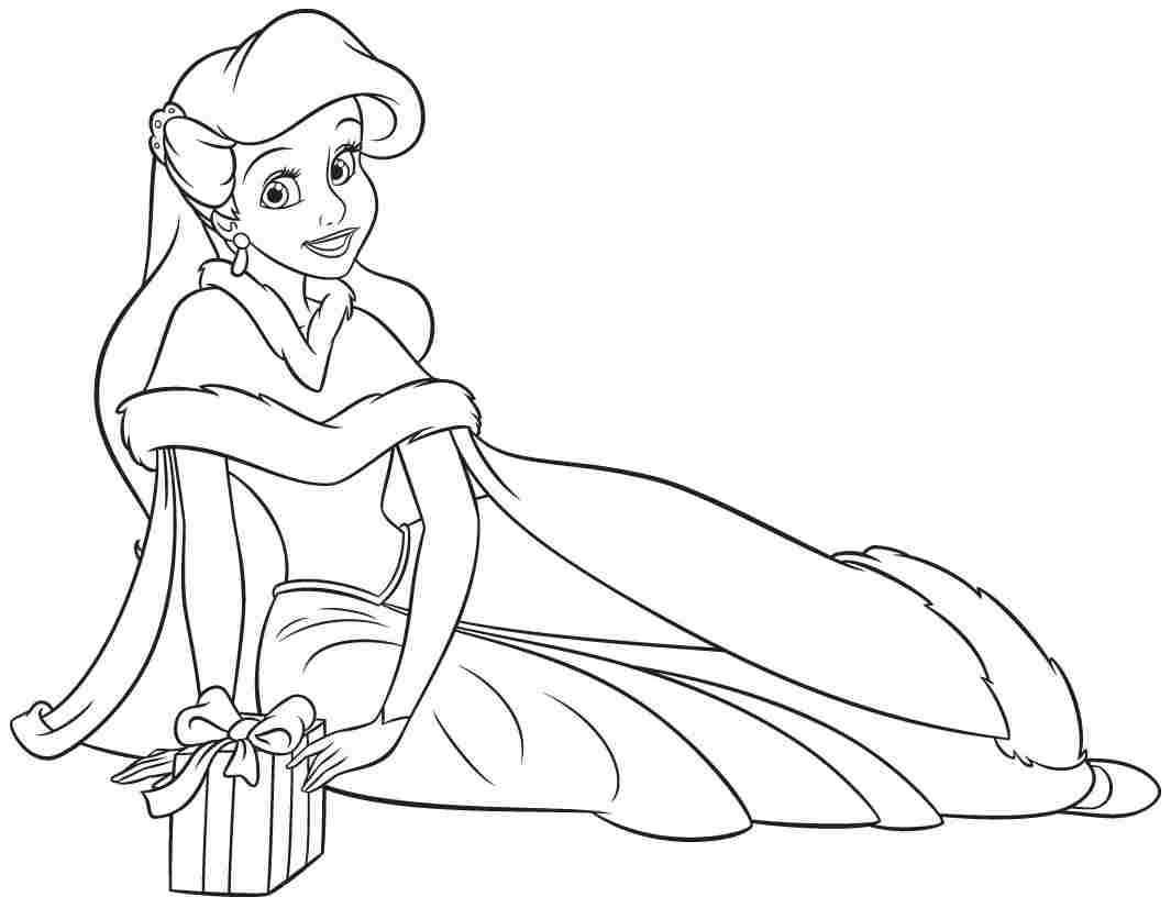 Disney princess christmas coloring pages free - Princess Ariel Human Christmas Coloring Pages Printable And Coloring Book To Print For Free Find More Coloring Pages Online For Kids And Adults Of Princess