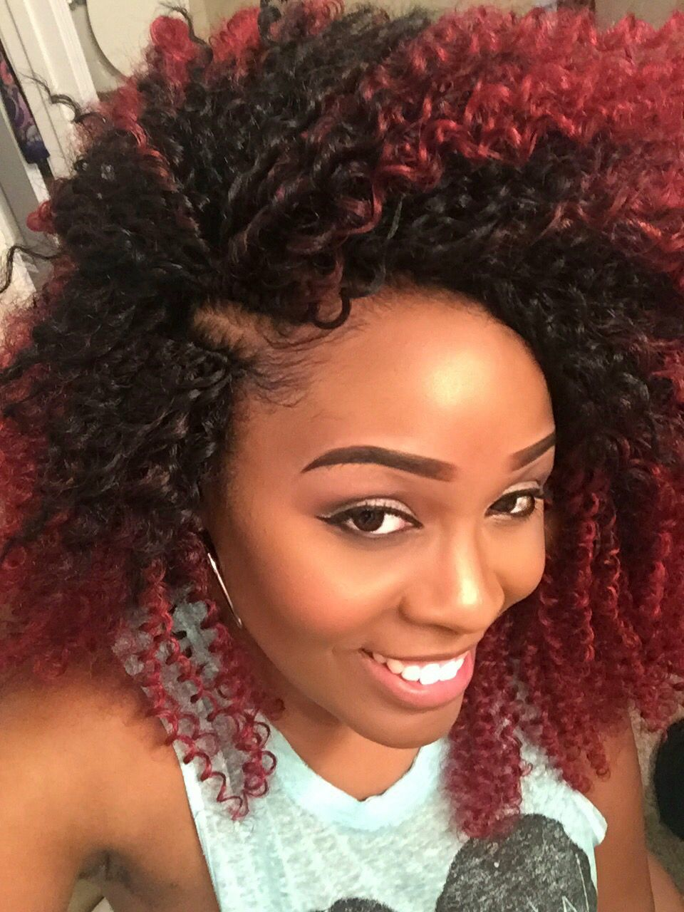 Crochet Braids with Freetess water wave hair in color