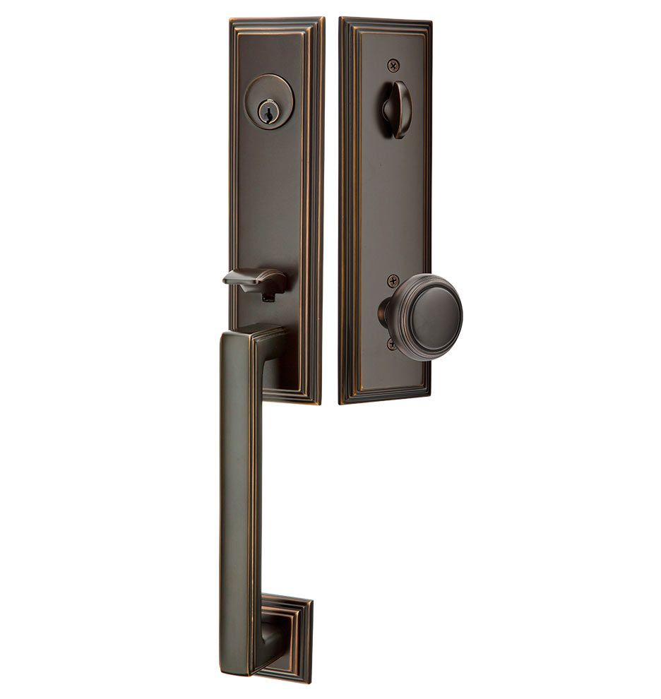 Welshire Lockset With In Oil Rubbed Bronze 279 00 From Rejuvenation Com C0211 Wilshire Nw Ob C