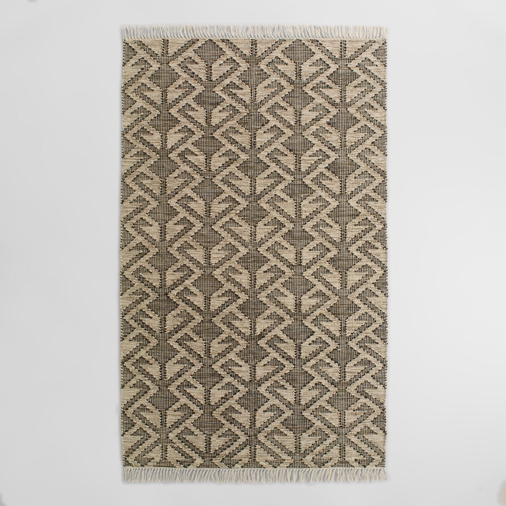 Hand Woven In India From Recycled Plastic Bottles Our Graphic Design Area Rug Is A