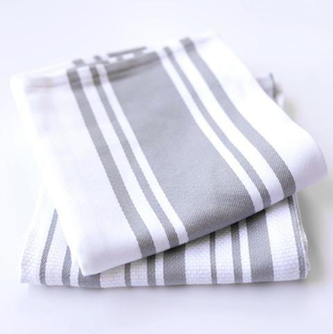 Light Gray Kitchen Towels Set Of 2
