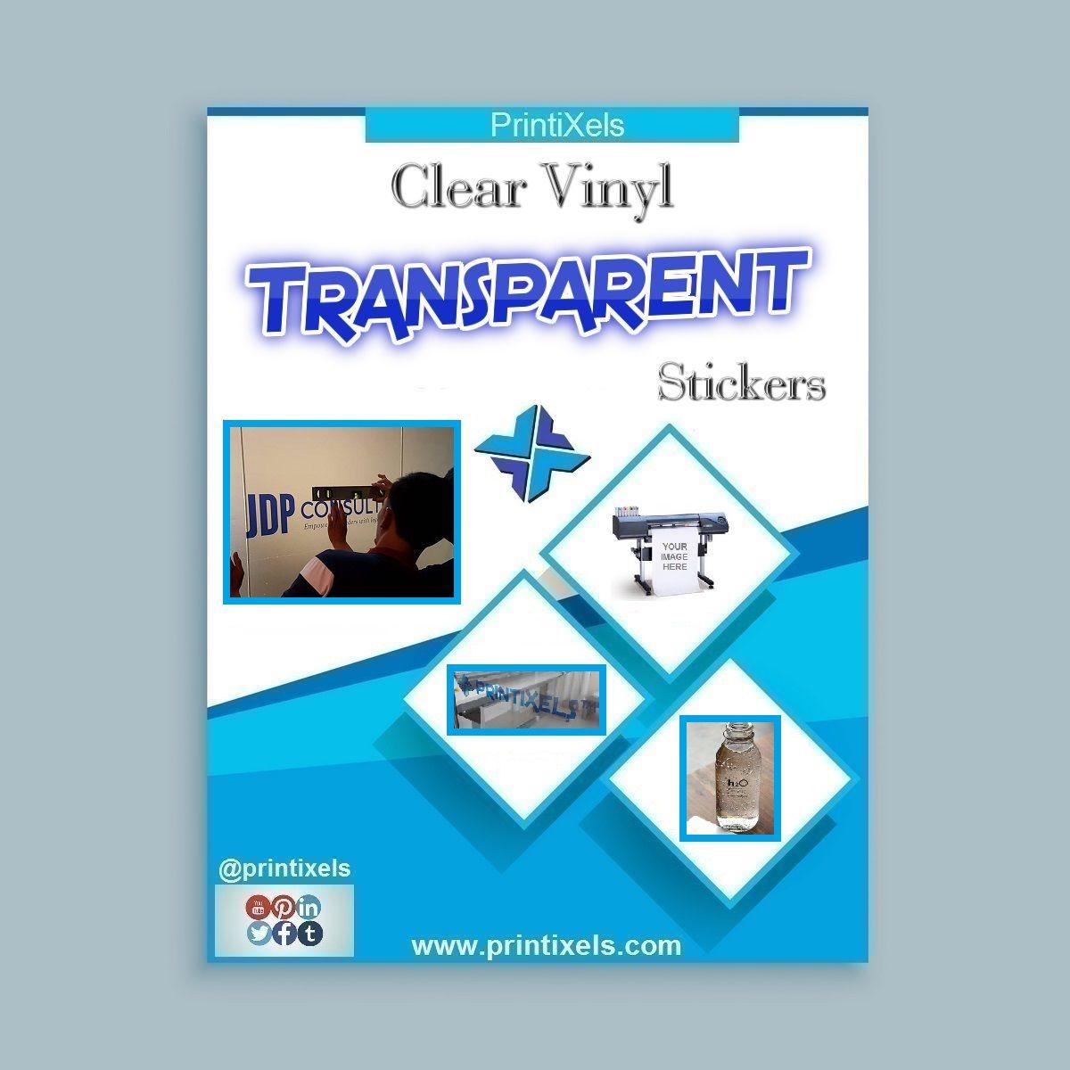 Clear vinyl transparent stickers decals photo book