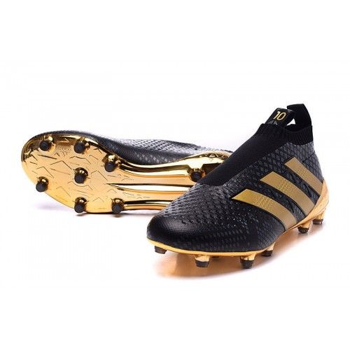 online store 01fc3 9edd9 Los Nuevos botines de futbol Adidas ACE 16 Purecontrol FG AG Mujer Baratas  Online Oro Negras