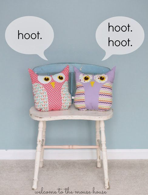 Lola the Owl: Gingercakes Sewing Patterns | Owl pillow, Sewing ...