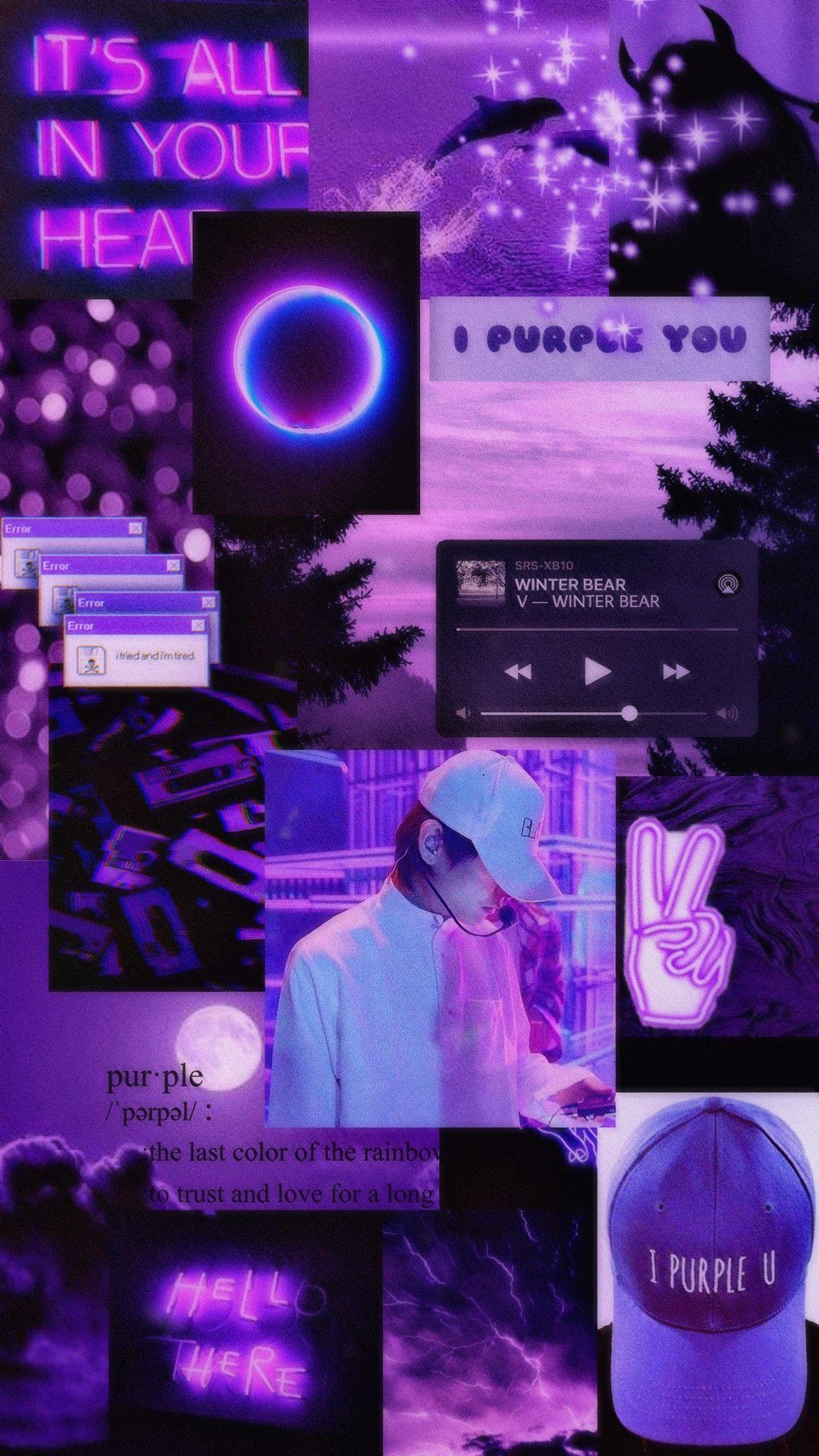 Bts Taehyung V Wallpaper Bts purple wallpaper aesthetic