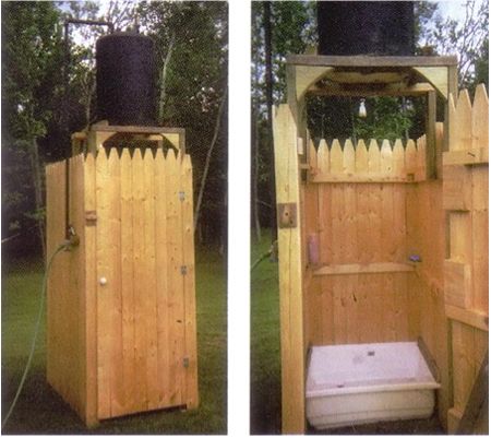 Awesome DIY Outdoor Solar Shower