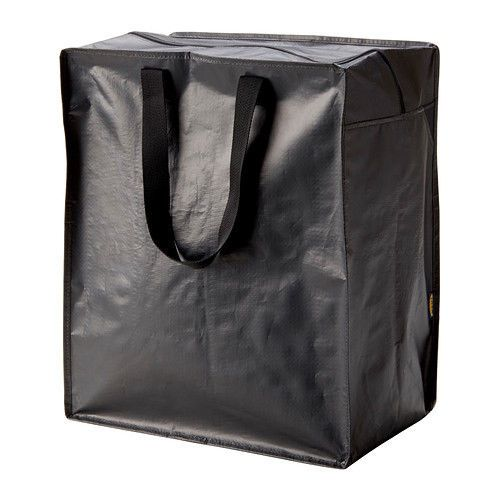 Ikea Knalla Bag Black Storage Groceries Clothes Top Zips Max