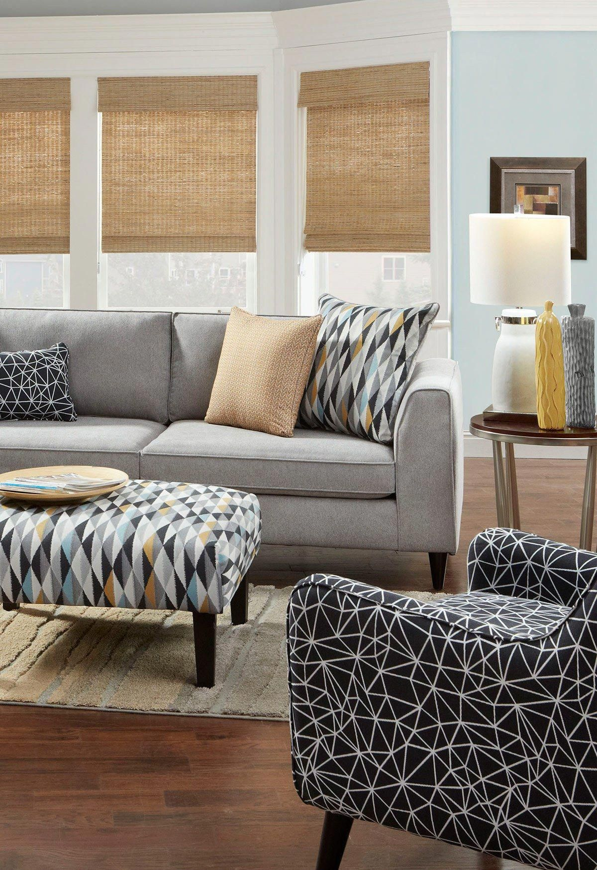 Black And White Decorating Living Room With Black And White Accent