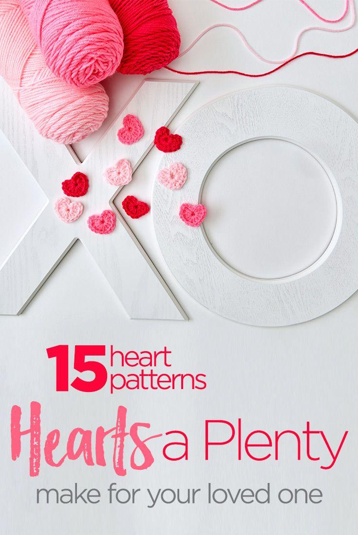 Hearts a Plenty | Red Heart | crochet/knit ideas | Pinterest
