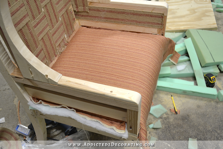diy wingback dining chair how to upholster the frame part 1 rh pinterest com