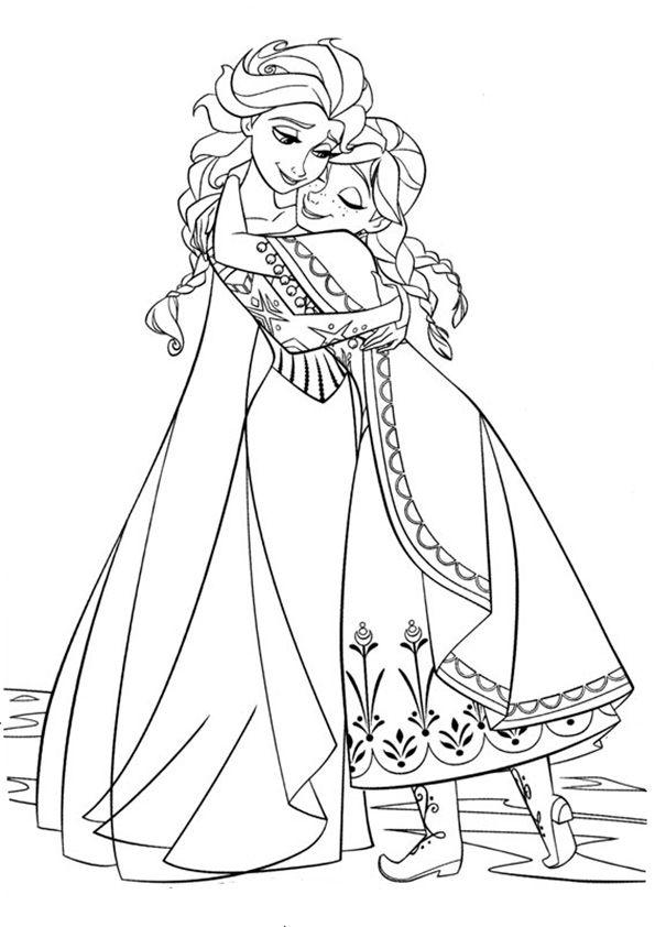 ausmalbilder eiskönigin 03  elsa und anna  pinterest