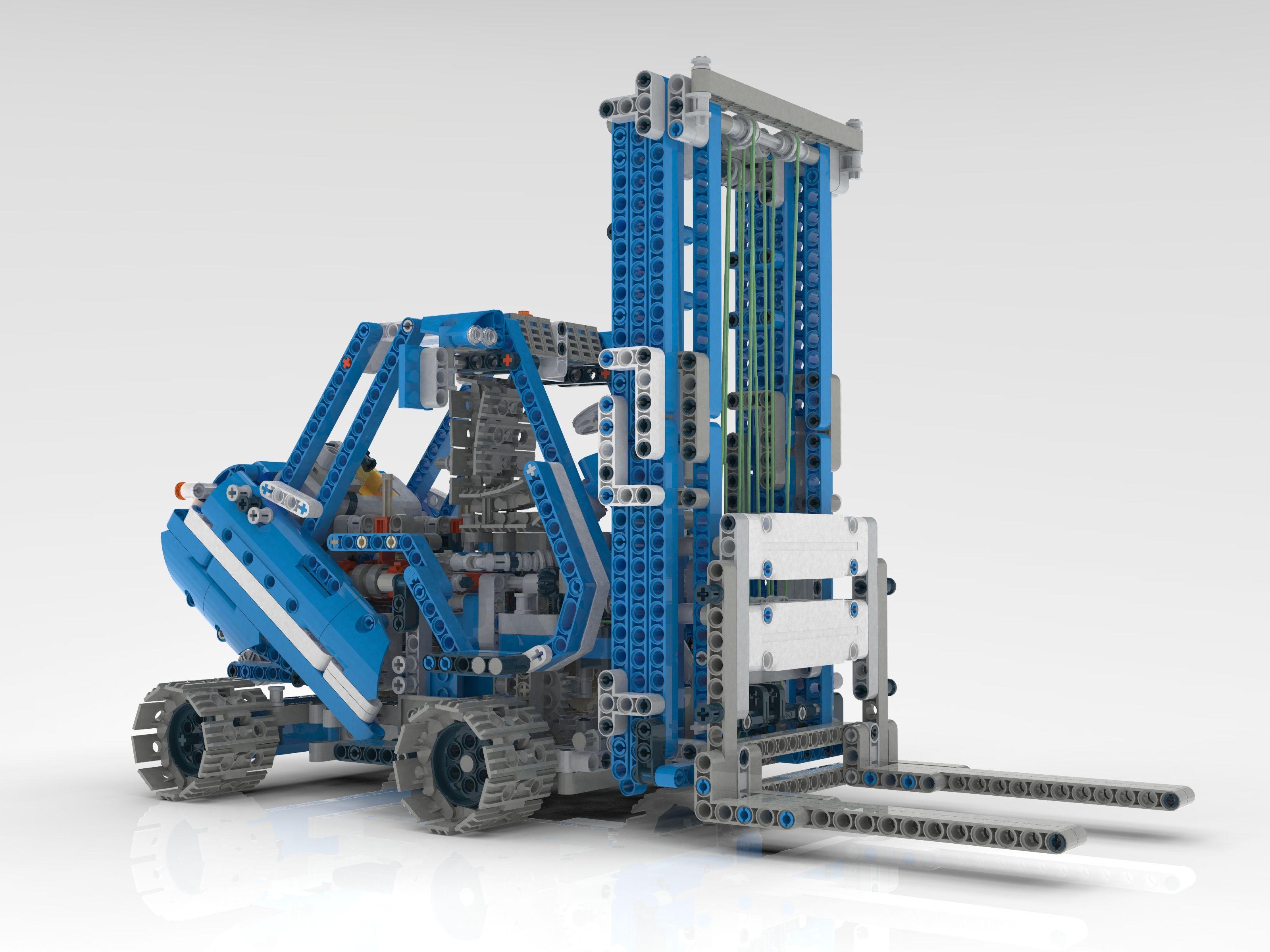 forklift cmodel 42042 lego lego technic lego lego moc. Black Bedroom Furniture Sets. Home Design Ideas