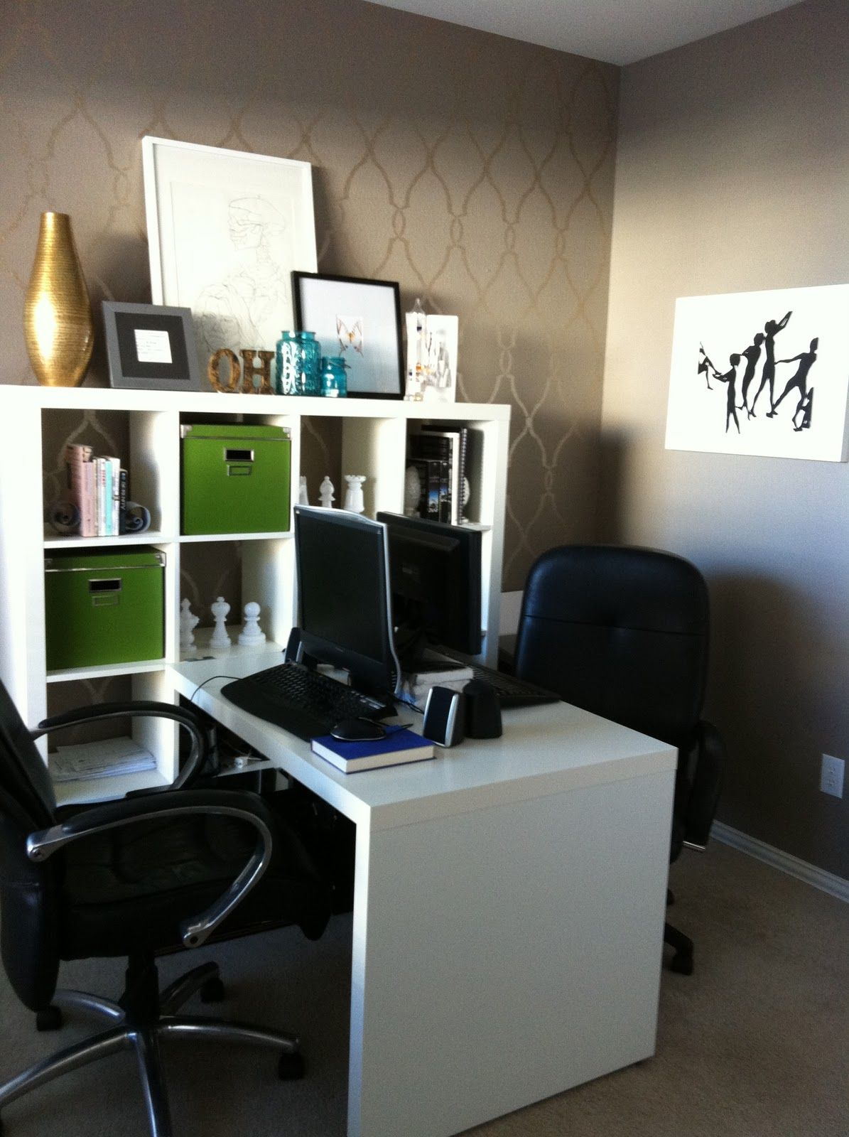 beautiful yet modern ikea home office ideas dazzling grey wall rh pinterest com