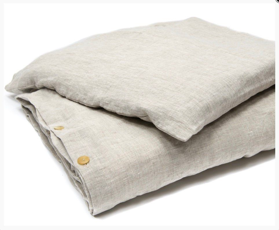 Linen Bed Set Size 200cm X 200cm Stonewashed Soft Linen Bed Set