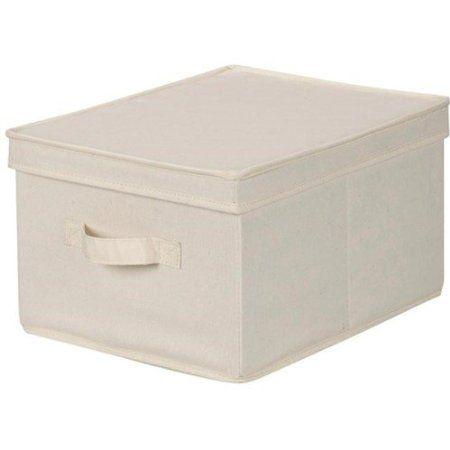 Amazon Com Storage Box Bin W Lid Large Natural Canvas 12x15 Household Essentials 113 Storag Storage Boxes With Lids Canvas Storage Household Essentials Large decorative storage boxes with lids