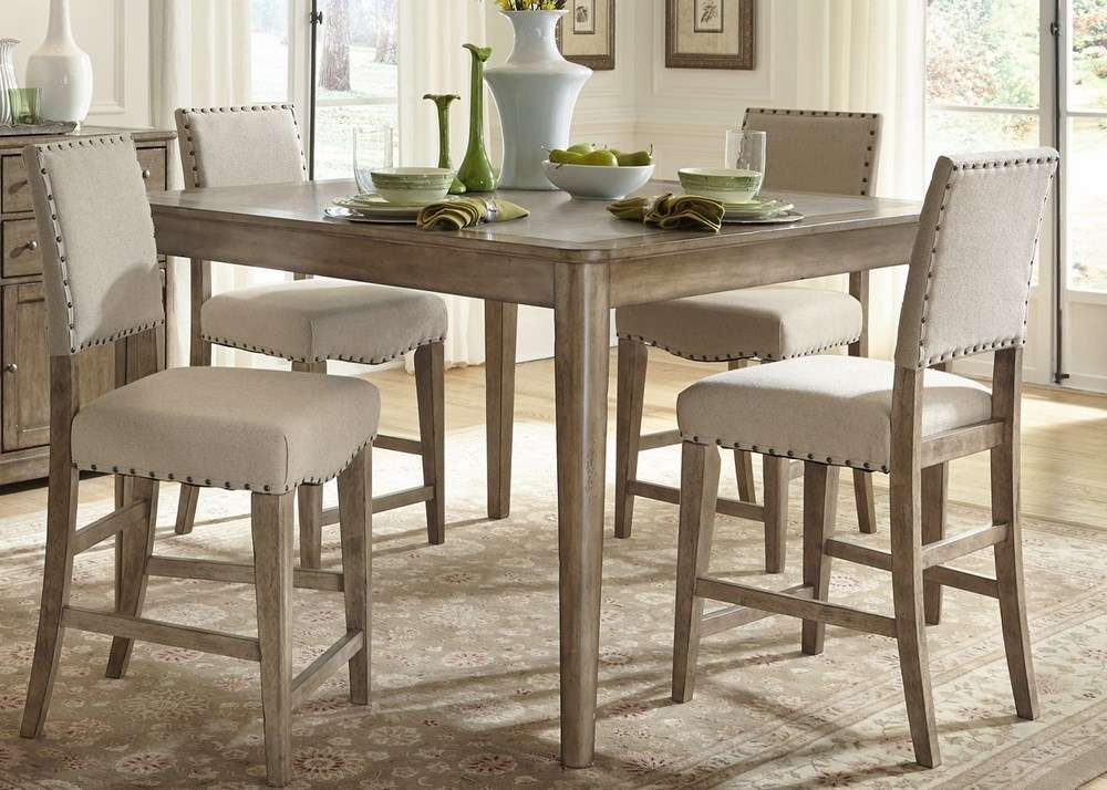 Dining Room Counter Height Sets Buy Liberty Furniture Weatherford 5 Piece 54X54 Square Counter