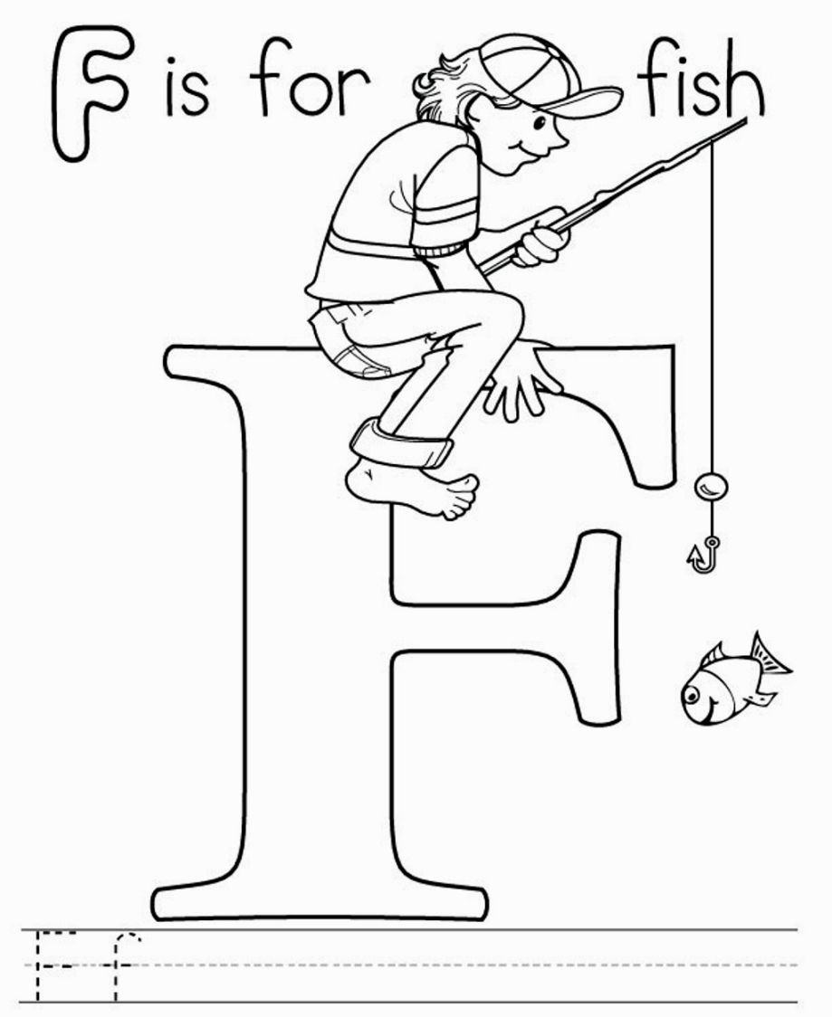 F Is For Fish Coloring Page Alphabet Coloring Letter A Coloring Pages Coloring Pages